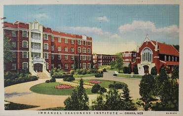 Vintage postcard of Immanuel Deaconess Institute in Omaha, Nebraska